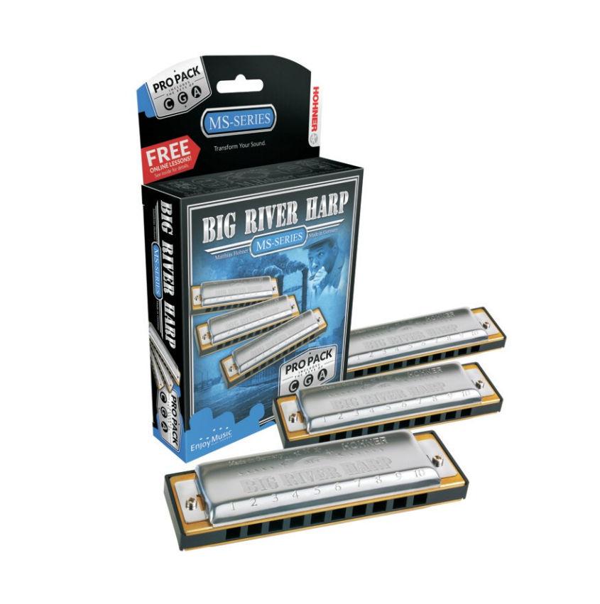 Hohner Big River Harp Pro Pack