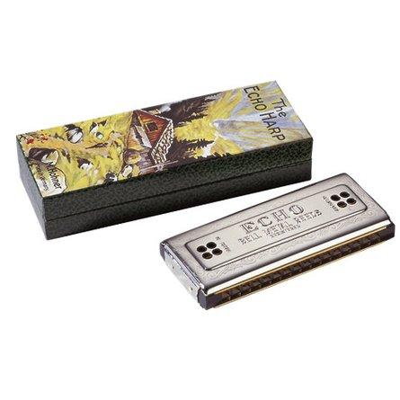 Hohner Echo 64 harmonica with box